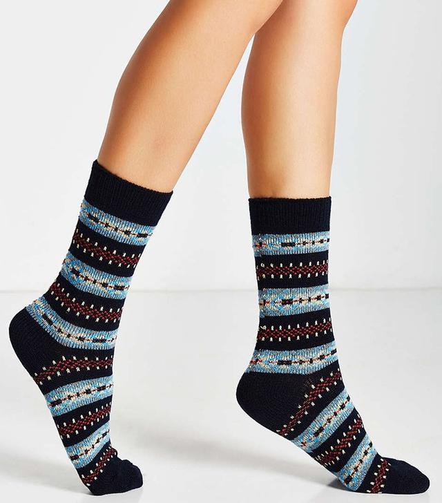 Urban Outfitters Vintage Fair Isle Socks