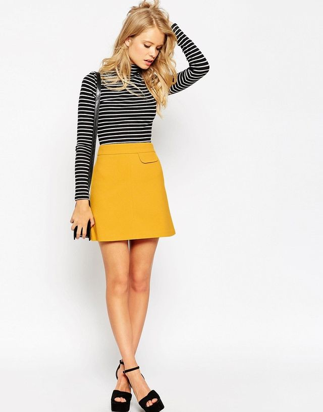 ASOS A-Line Skirt With Pocket Detail