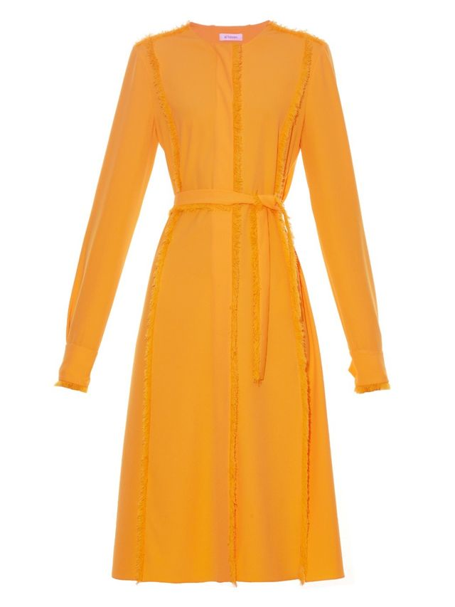 Altuzarra Hamilton Fringed Belted Dress