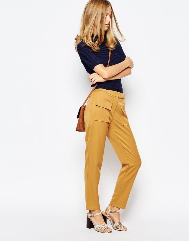 ASOS High Waisted Crop Trousers