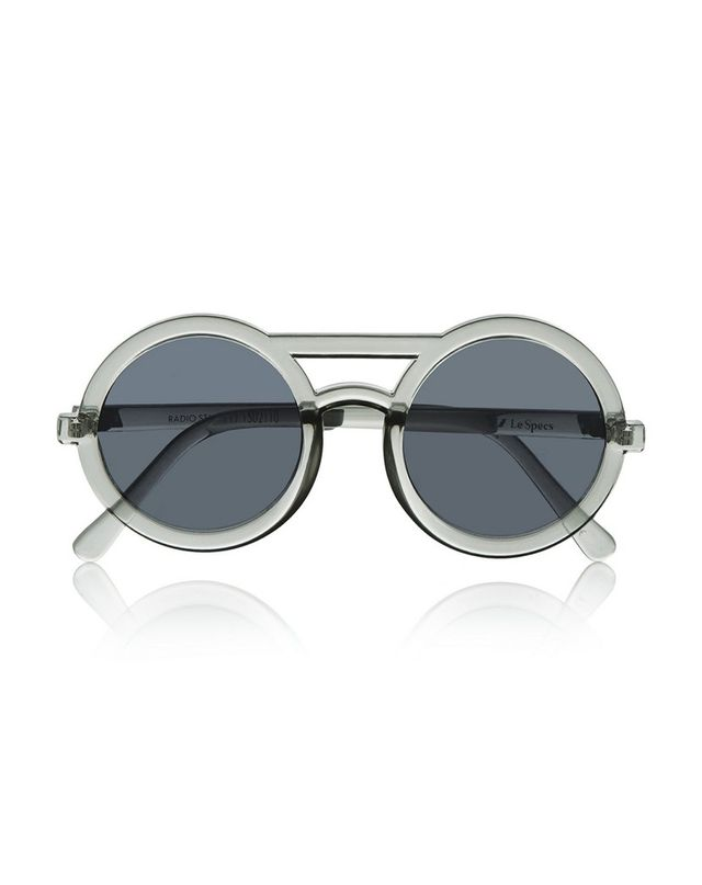 Le Specs Radio Star Round-Frame Acetate Sunglasses