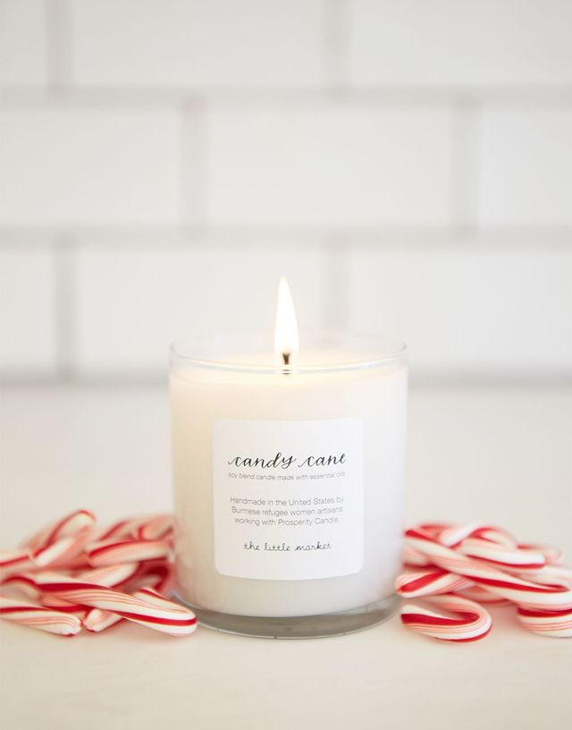 The Little Market Candy Cane Soy Blend Candle