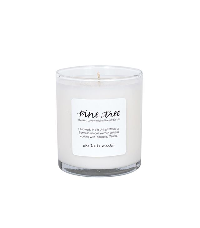 The Little Market Pine Tree Soy Blend Candle