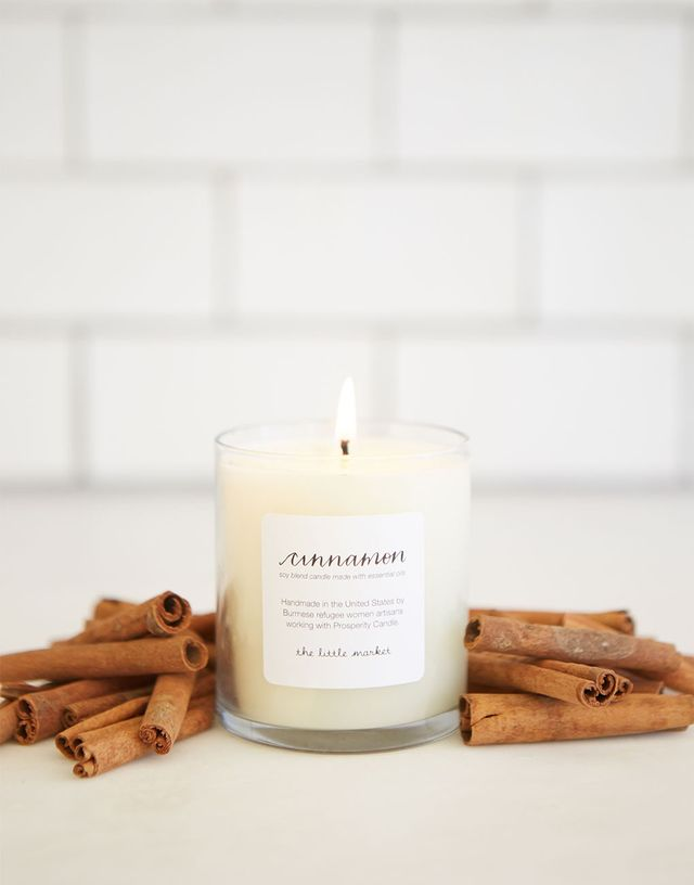 The Little Market Cinnamon Soy Blend Candle
