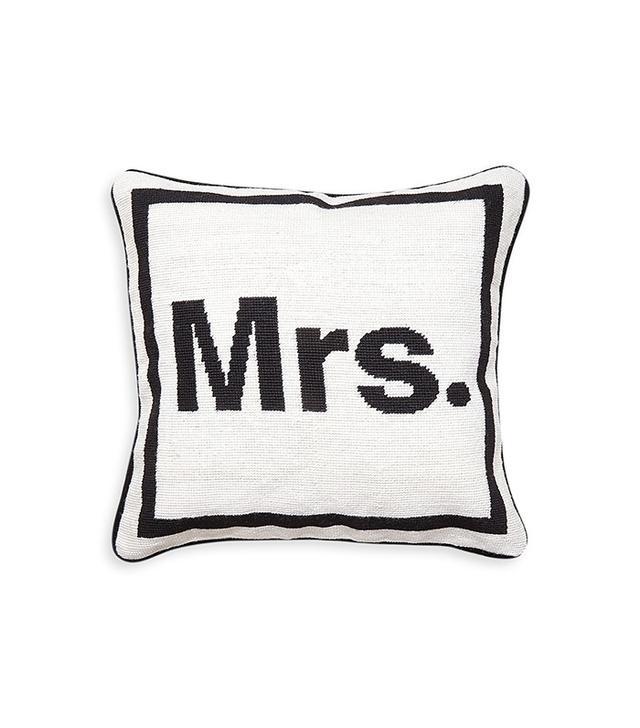 Jonathan Adler Mrs. Needlepoint Pillow