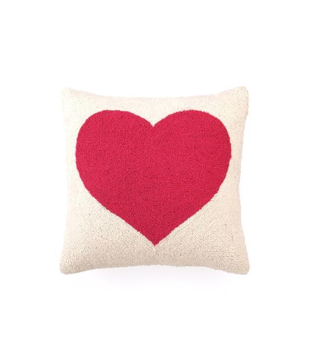 Rosenberry Rooms Pink Heart Hook Pillow