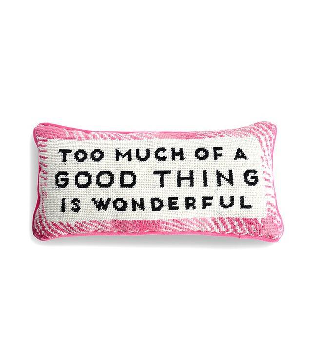 Furbish Wonderful Needlepoint Pillow