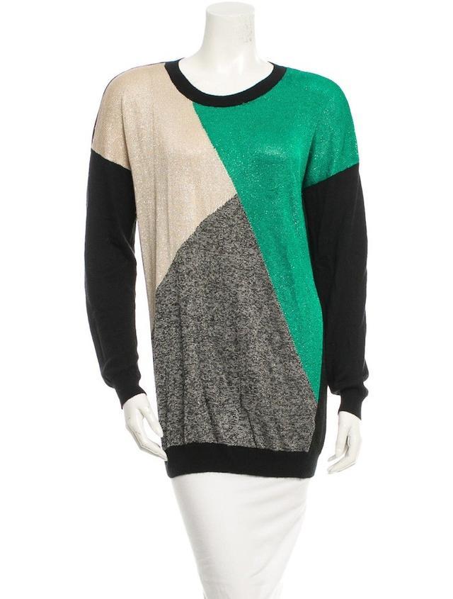 Tibi Coloblock Sweater