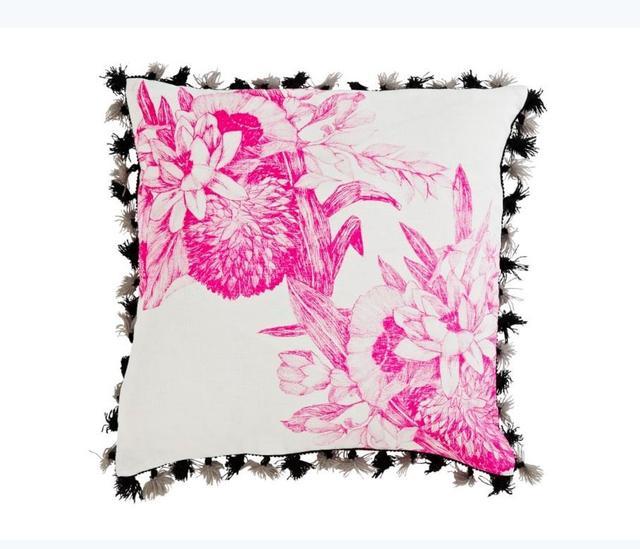Bonnie and Neil Lotus Pink Cushion