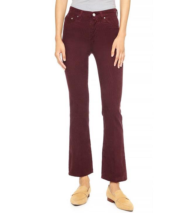 Alexa Chung x AG Revolution High Waisted Corduroy Pants