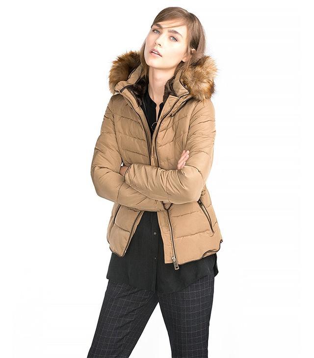 Zara Anorak With Detachable Hood