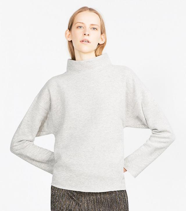 Zara High-Neck Sweatshirt
