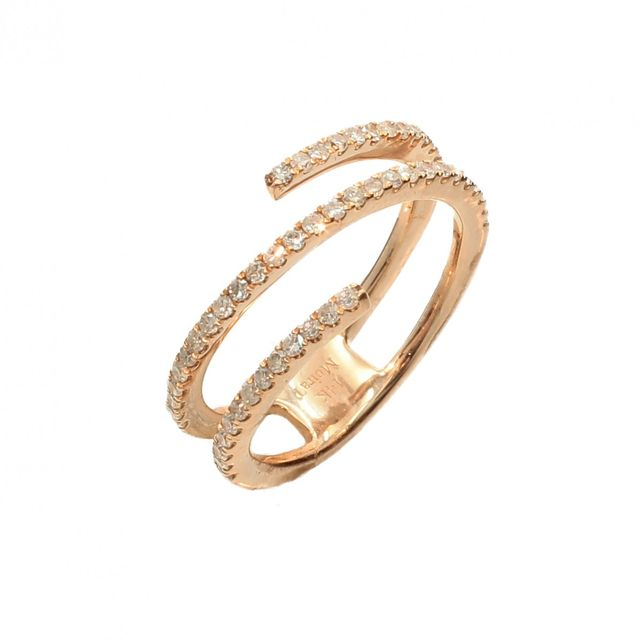 Meira T x Are You Am I Rose Gold Diamond Encrusted Ring