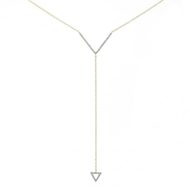 Meira T x Are You Am I Two Tone Yellow Gold Lariat