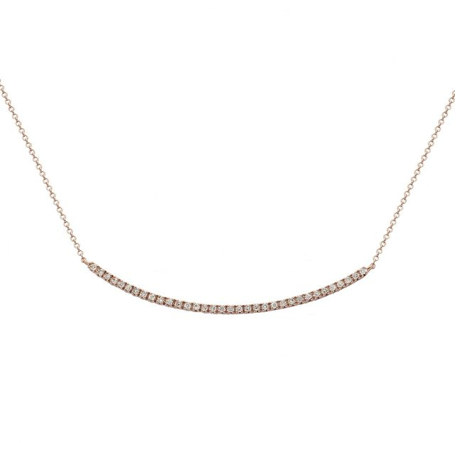 Meira T x Are You Am I Rose Gold Diamond Bar Necklace