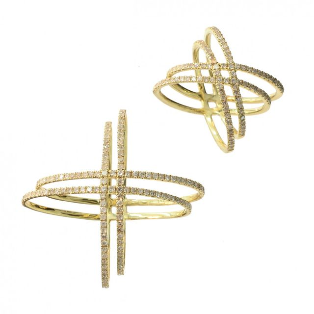 Meira T x Are You Am I Yellow Gold Diamond Double Ring