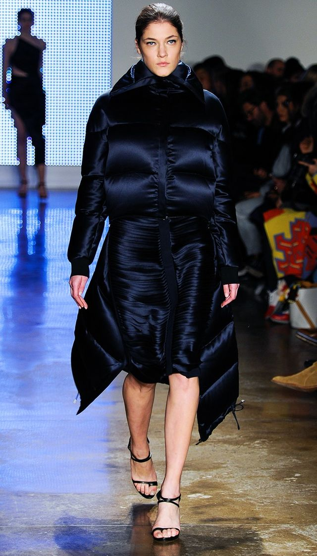 Dion Lee A/W 15 Catwalk Notes:The ladylike version of the down-filled puffa has landed.Look no further for an evening coat that'll keep out the cold and earn you a constant stream of...