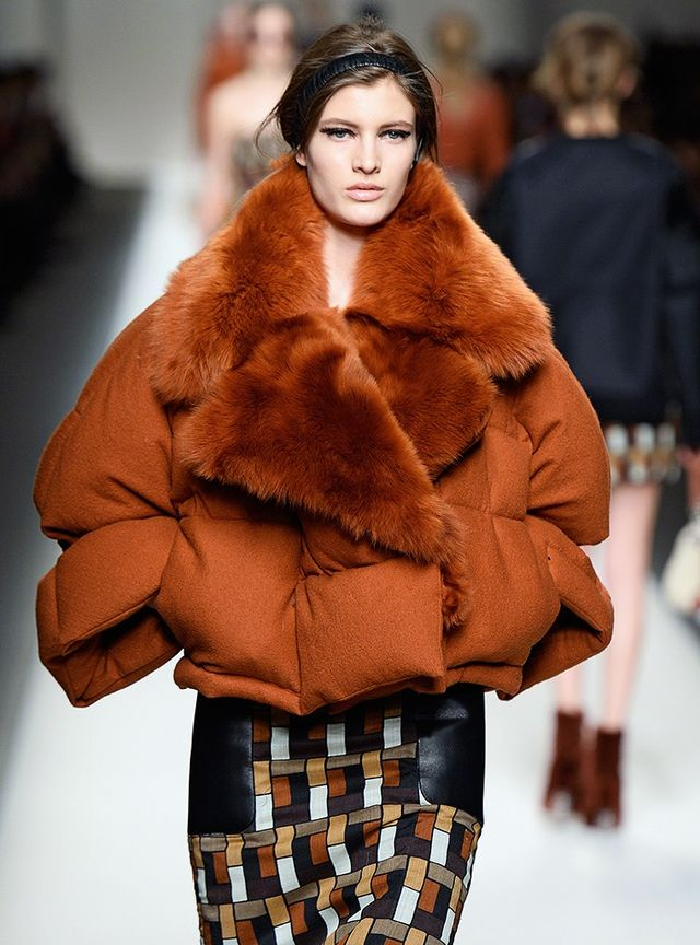 Fendi A/W 15 Catwalk Notes:With architectural panache and an ultra-cosy lining, you'll feel like you're still warm in bed while heading out into the big smoke. Style it just like the runway...