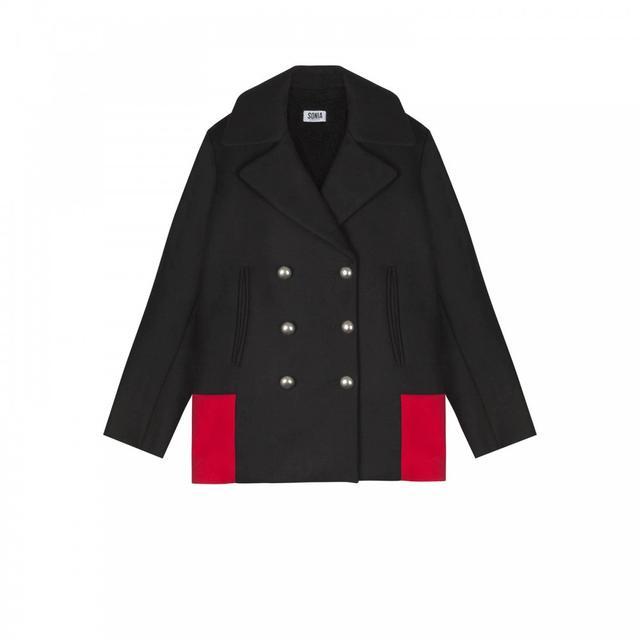 Sonia Rykiel Two-Tone Sailor Coat