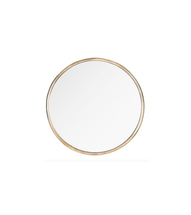 Kathy Kuo Home Libby Hollywood Regency Round Mirror