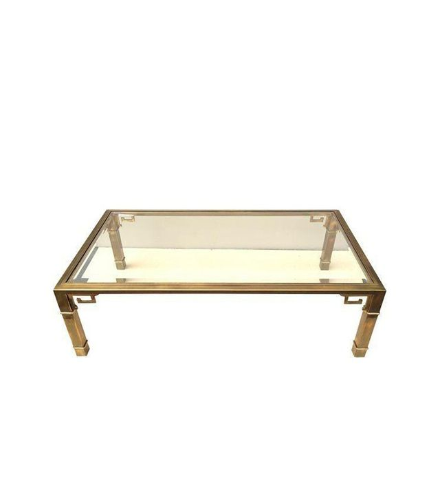 Mastercraft Brass Cocktail Table