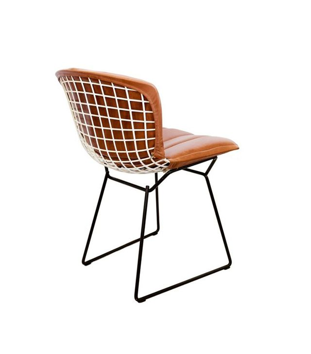 Katie Hodges Design Vintage Bertoia Chairs w/Custom Leather Cushion