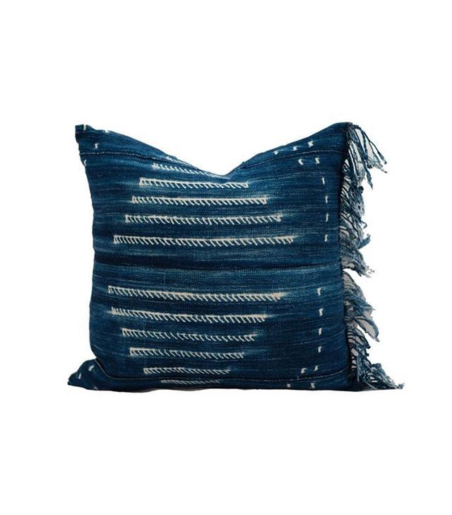 Katie Hodges Design Vintage Indigo Navy Mudcloth Textile Pillow