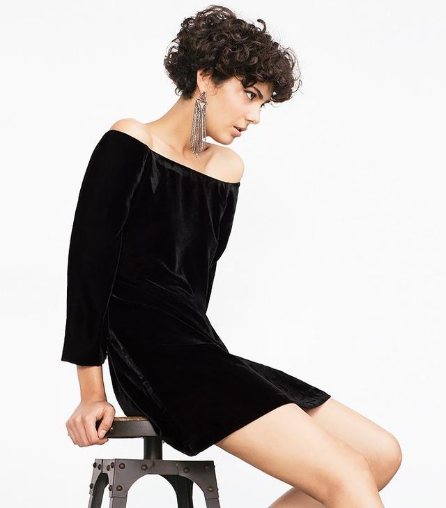 Zara Short Velvet Dress
