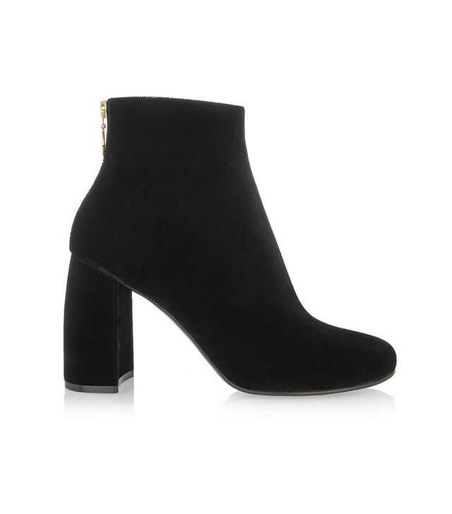 Stella McCartney Velvet Ankle Boots