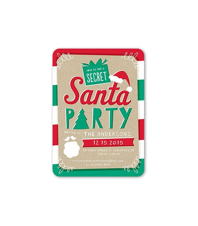 Shutterfly Secret Santa Holiday Invitation