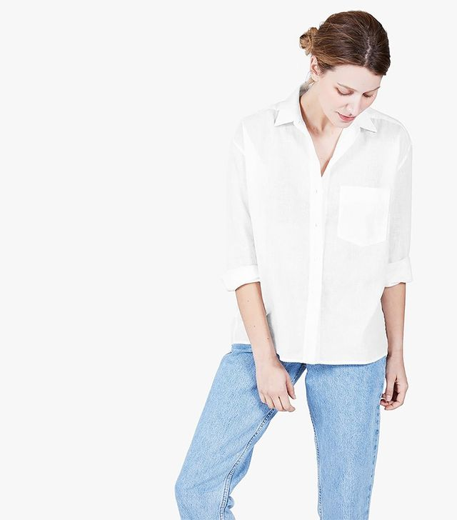 Everlane The Cotton-Linen Long-Sleeve