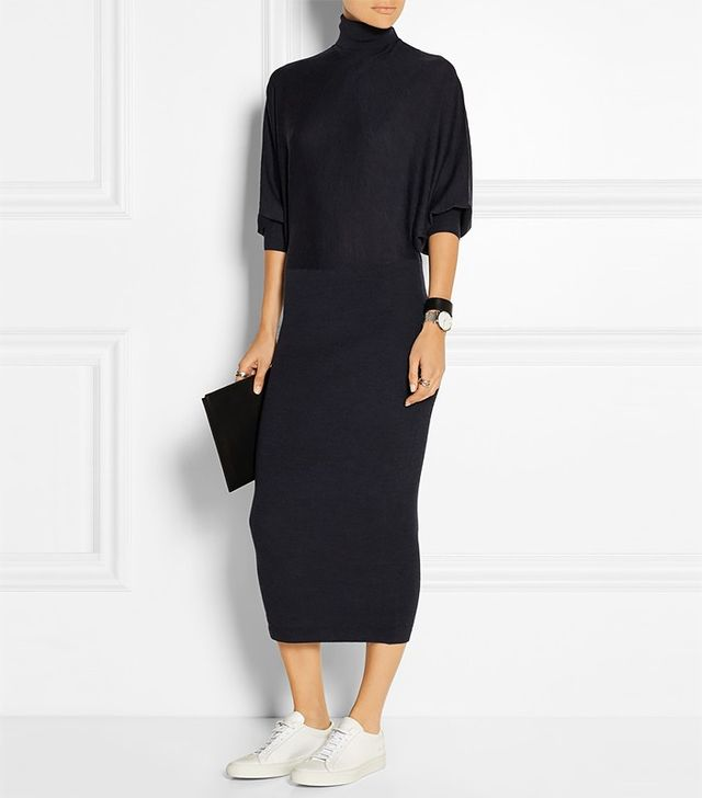 Acne Studios Carisa Merino Wool Turtleneck Dress