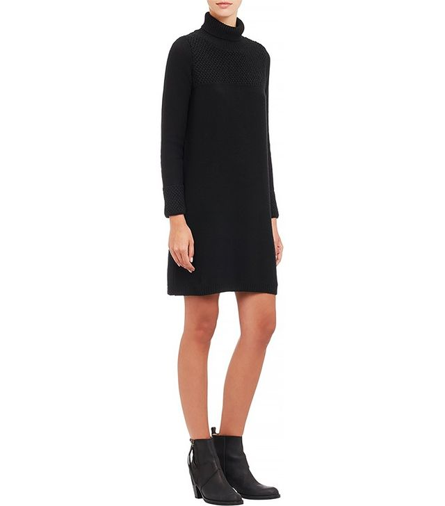 Barneys New York Knit Turtleneck Dress