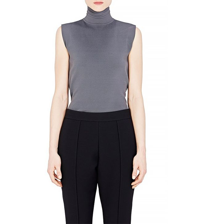 Marni Compact Knit Mock-Turtleneck Top