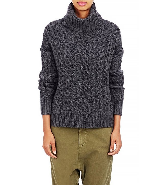 Nili Lotan Cable-Knit Turtleneck Sweater