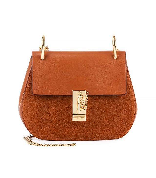 Chloé Drew Small Leather/Suede Shoulder Bag