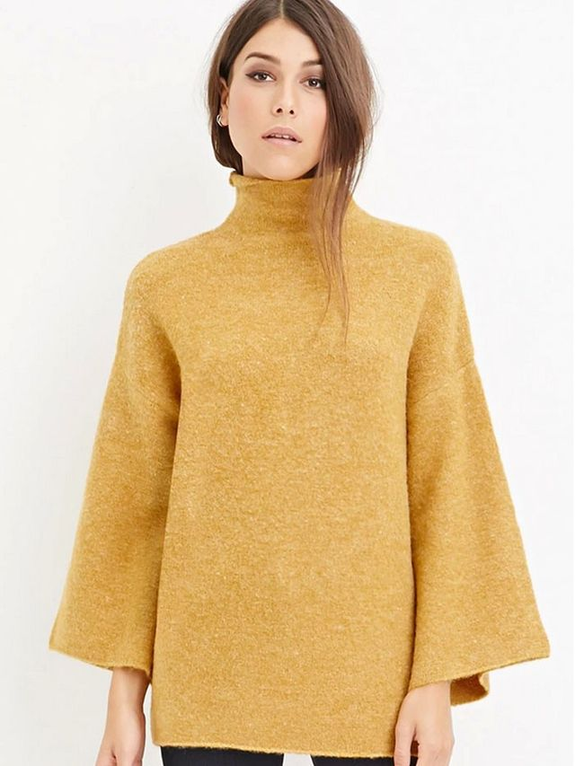 Forever 21 Contemporary Fuzzy Turtleneck Sweater