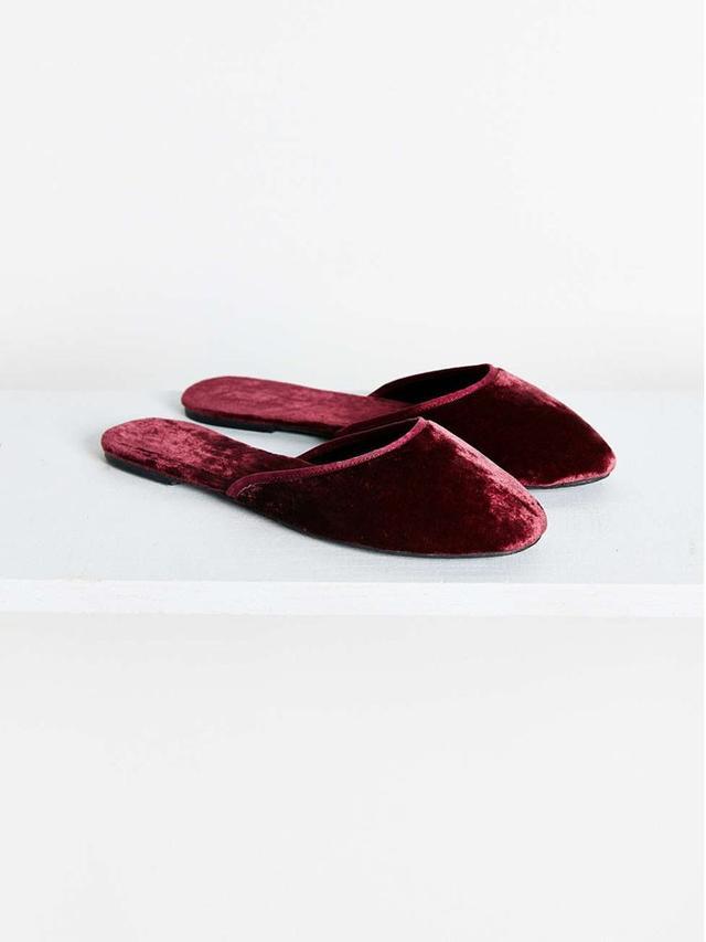 Urban Outfitters Velvet Slide Slipper