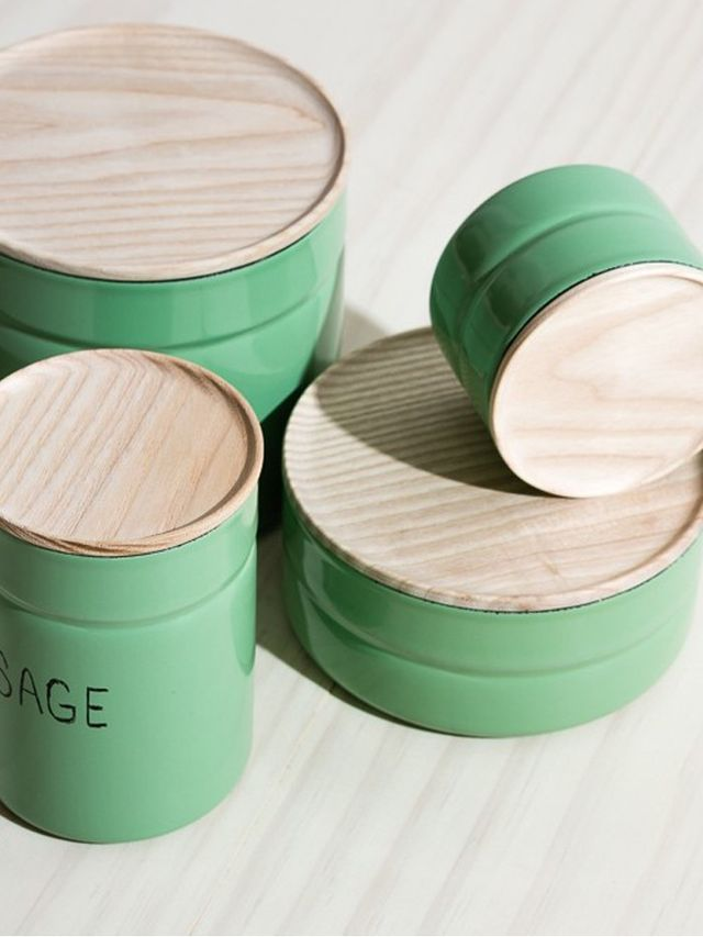 Riess Enamel Canisters