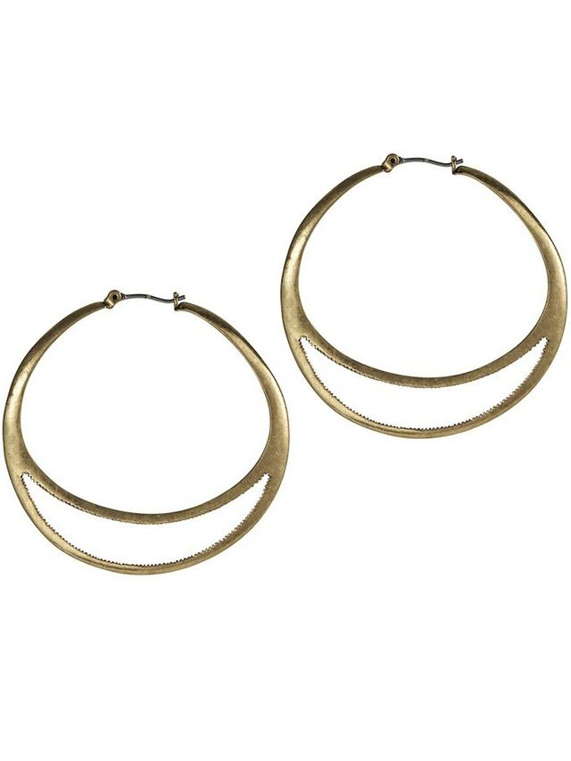 Jenny Bird Crescent Moon Hoops