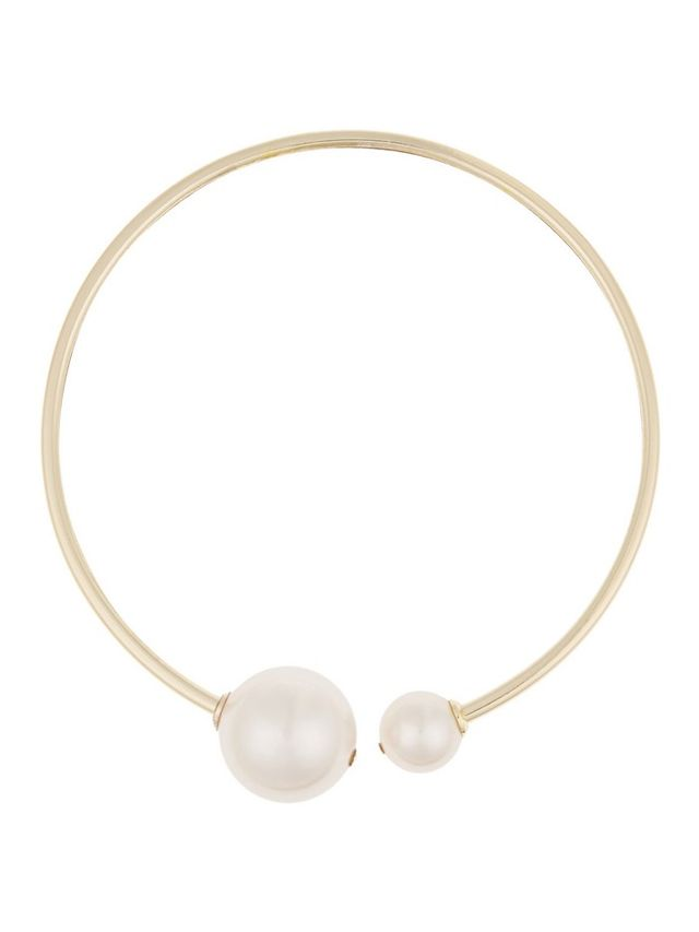 Kenneth Jay Lane Gold-Plated Faux Pearl and Crystal Choker