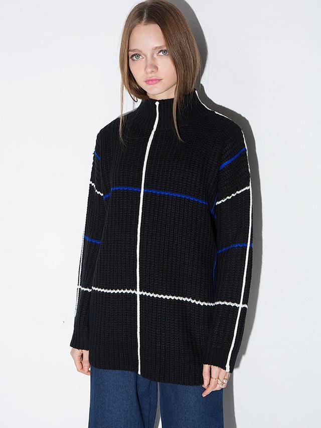 Pixie Market Oversize High Neck Sweater
