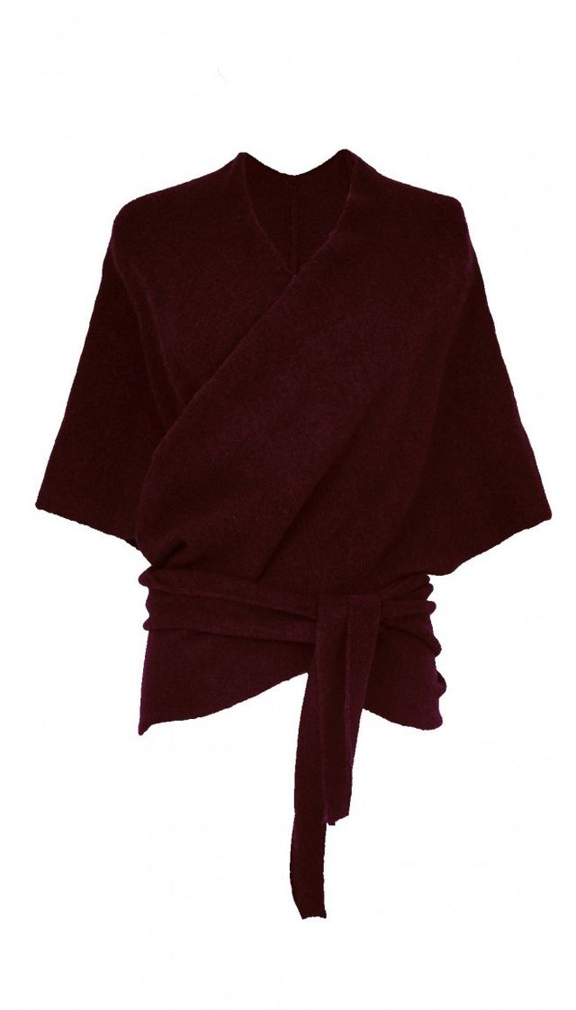 Tibi Knit Convertible Shawl in Wine