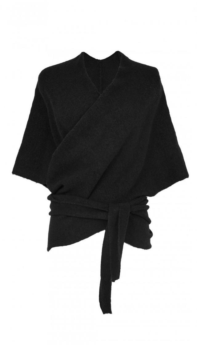 Tibi Knit Convertible Shawl in Black