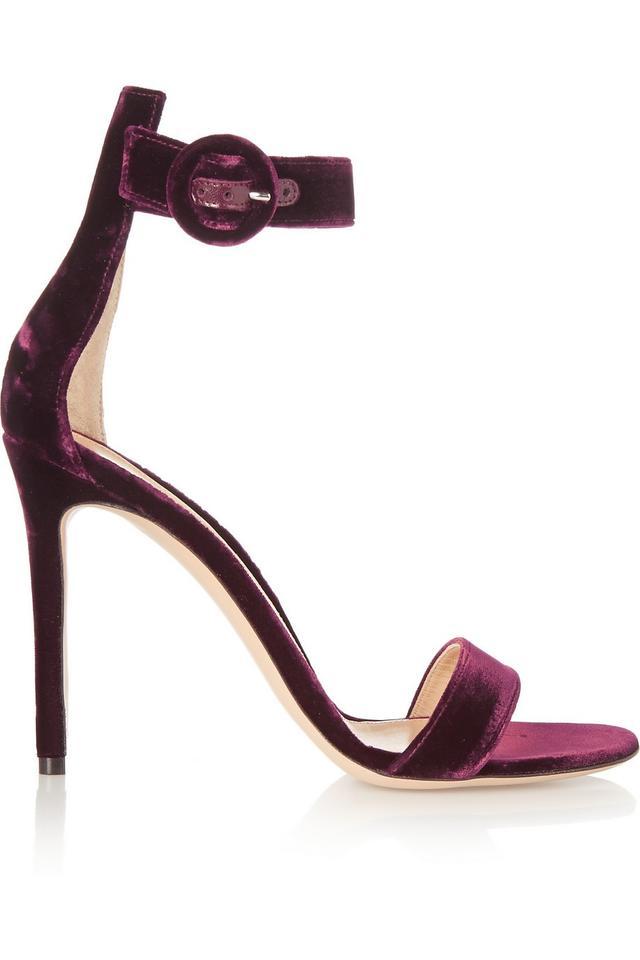Gianvito Rossi Velvet Sandals