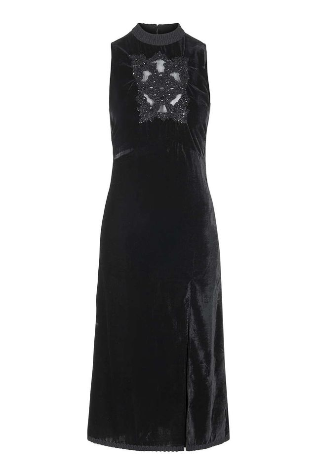 Topshop Velvet Embellished Dress