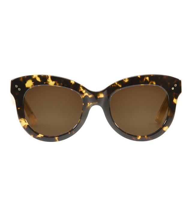 Krewe du Optic Julia Rue Tortoise & Matte Champagne Polarized Sunglasses