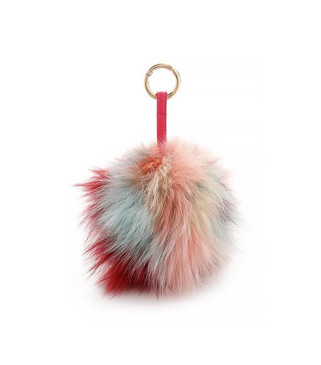 Jocelyn Fur Pom Pom Bag Charm