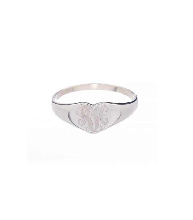 Ariel Gordon Heart Signet Ring