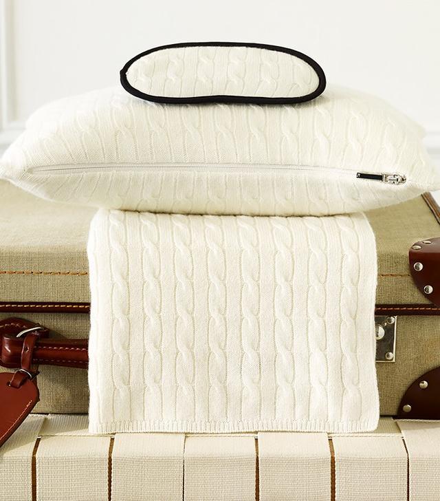 Ralph Lauren Cabled Cashmere Travel Set